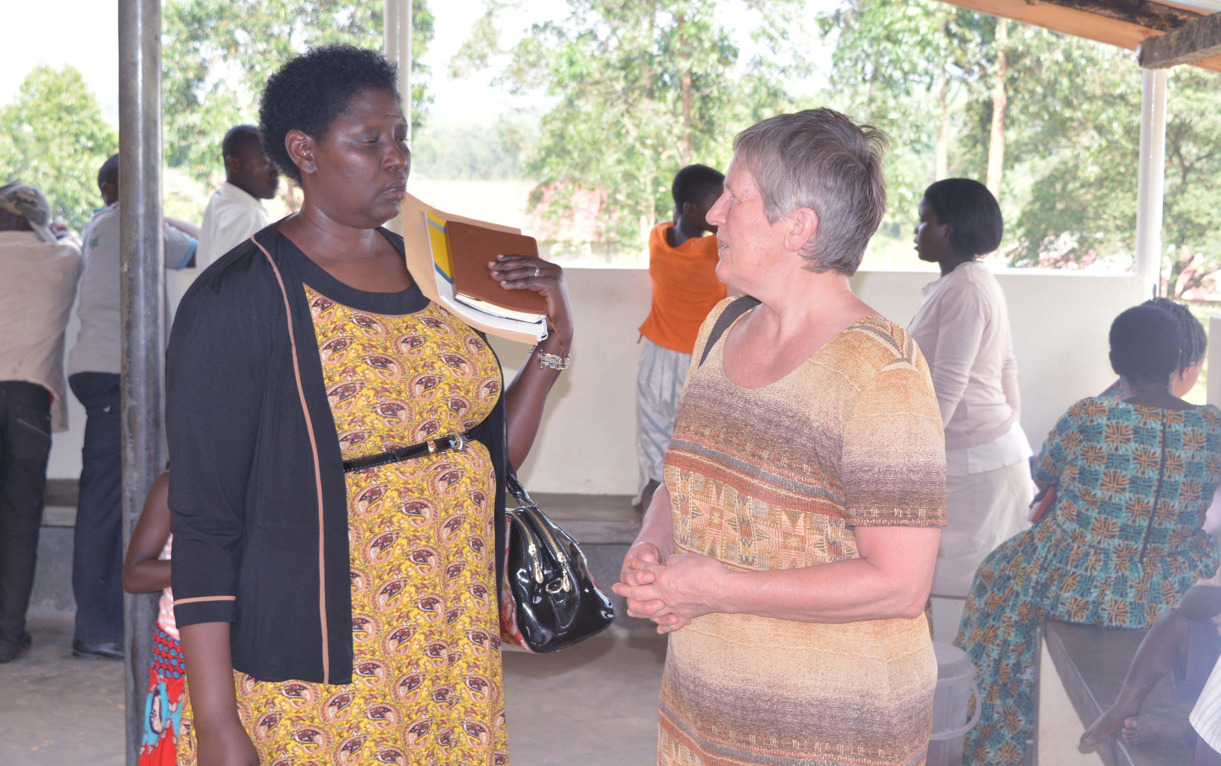 Prof. Maud Kamatenesi and Dr. Torunn StangeLand at Rwakishakizi Health Centre