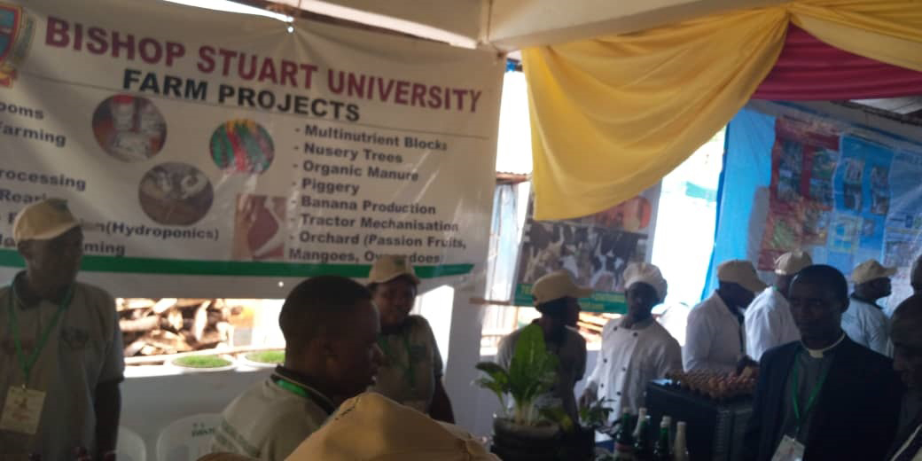 Minister of Agriculture Animal Industry and Fisheries Hon. Ssempijja Bamurangaki touring MBADIFA stall