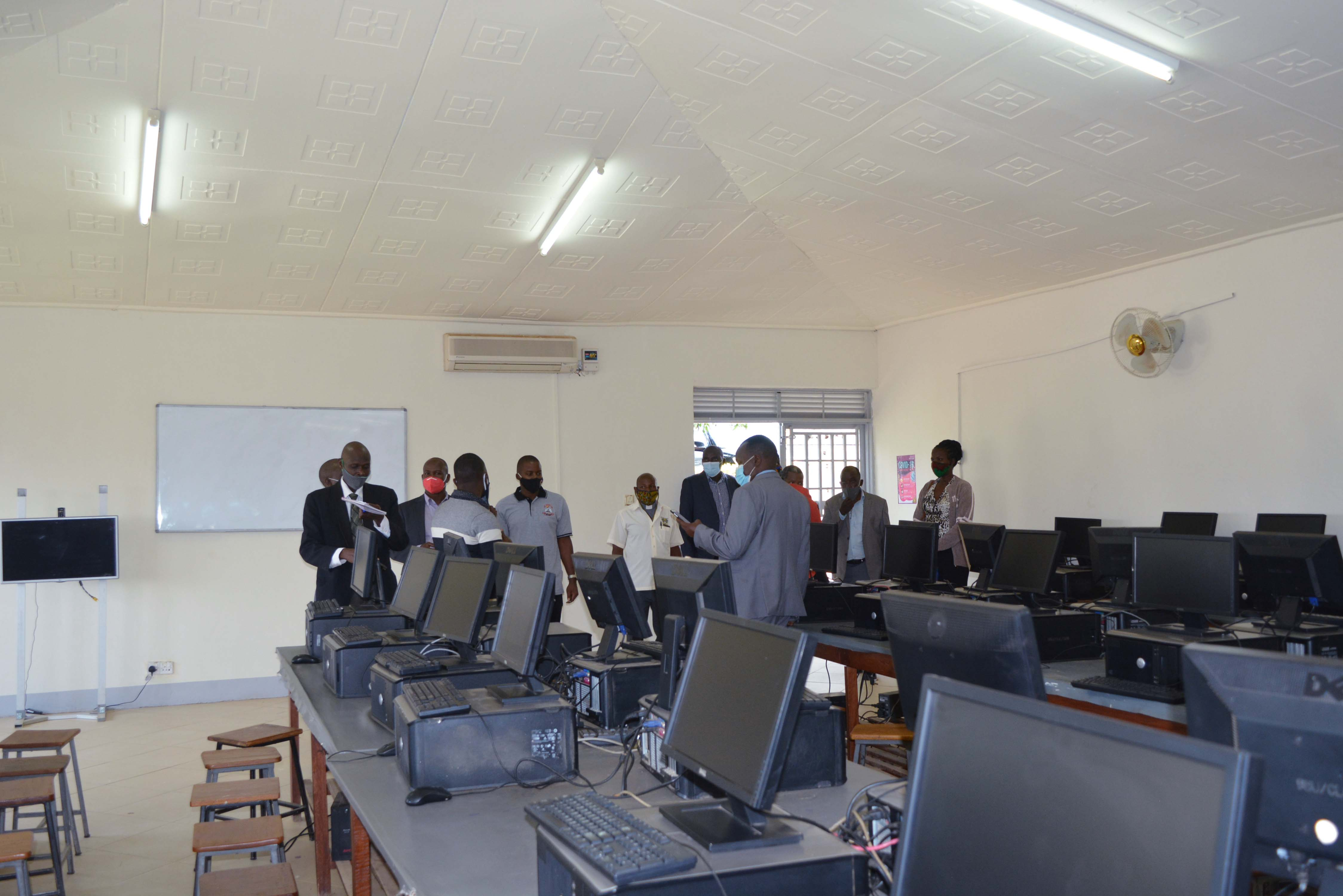 Inspection of computer laboratories by NCHE Officials