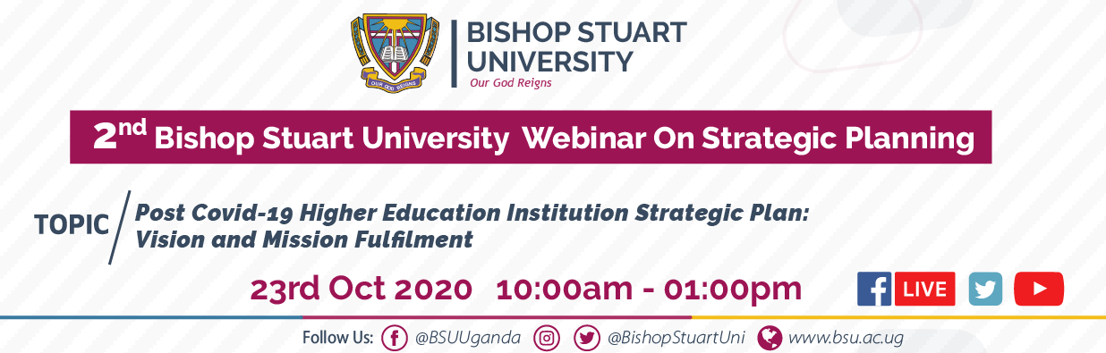 2nd Bishop Stuart University  Webinar On Strategic Planning