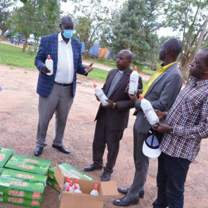 Bishop Stuart University and Mother & Child Mobile Clinic Mbarara donate