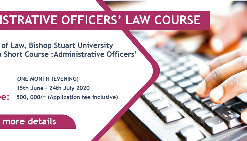 Administrative officers law short course (With an Oil and Gas Component)