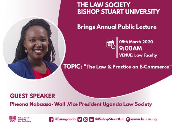 Bishop Stuart University Law Society set to host the Vice-President Uganda Law Society