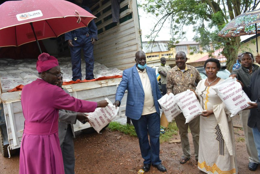 BSU donates 5 tons of maize flour to Mbarara district Covid-19 task force