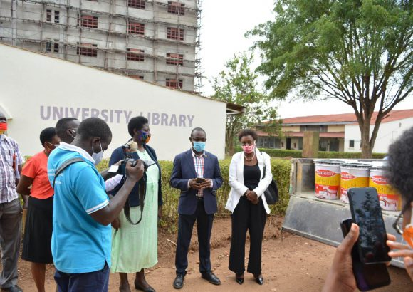 Handover of paint donation from Sadolin Paints to Bishop Stuart University