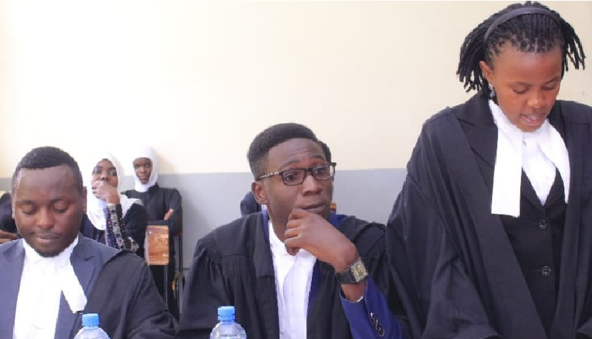 Law students representing BSU at the 6th Annual National Inter University Constitutional Law Moot Competitions