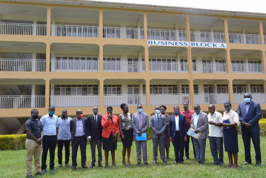 NCHE Officials and Bishop Stuart University Staff Posing for a group photo