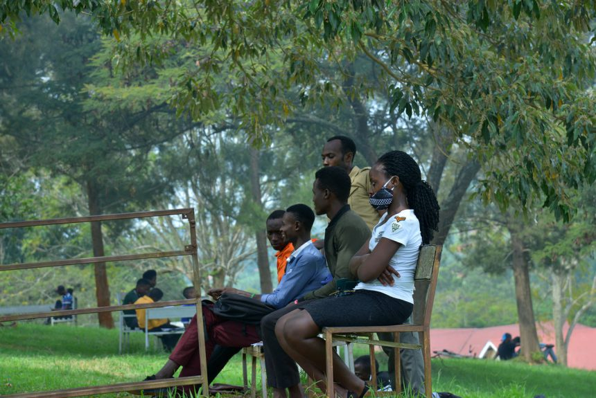 Students in a-discussion group