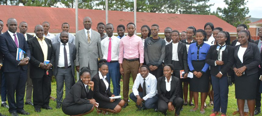 BSU Law students posing for a photo after the symposium at the Faculty of Law premises