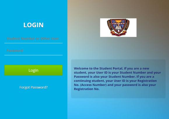 BSU students portal login page