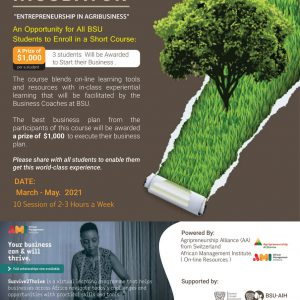Call for applications: Entrepreneurship in Agribusiness course for all students