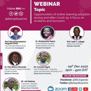 Webinar on opportunities of online learning adoption during and after Covid-19: A focus on students and lecturers