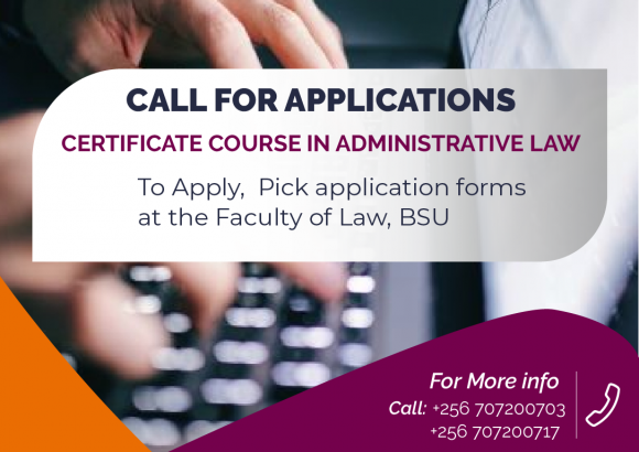 Call for application Administrative Law course