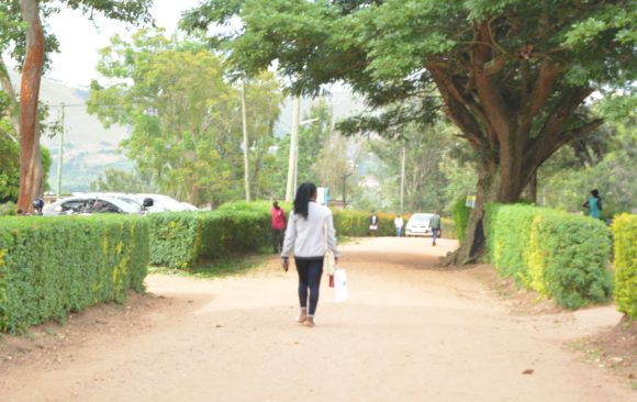Student Walking-Outdoor