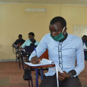 Student doing Law Pre-Entry exam-2020