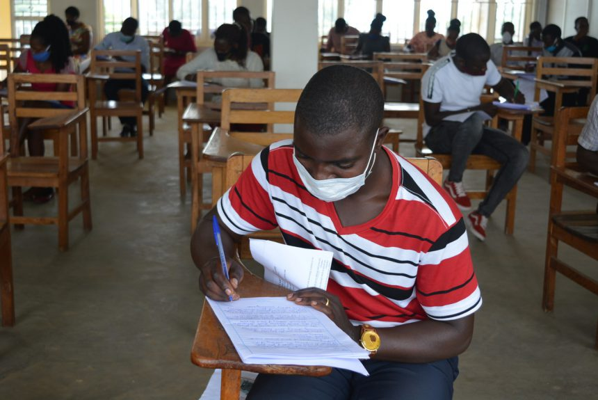 Student sitting for his End of Semester Examination