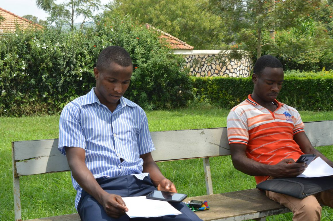 Students in a discussion group-Outdoor