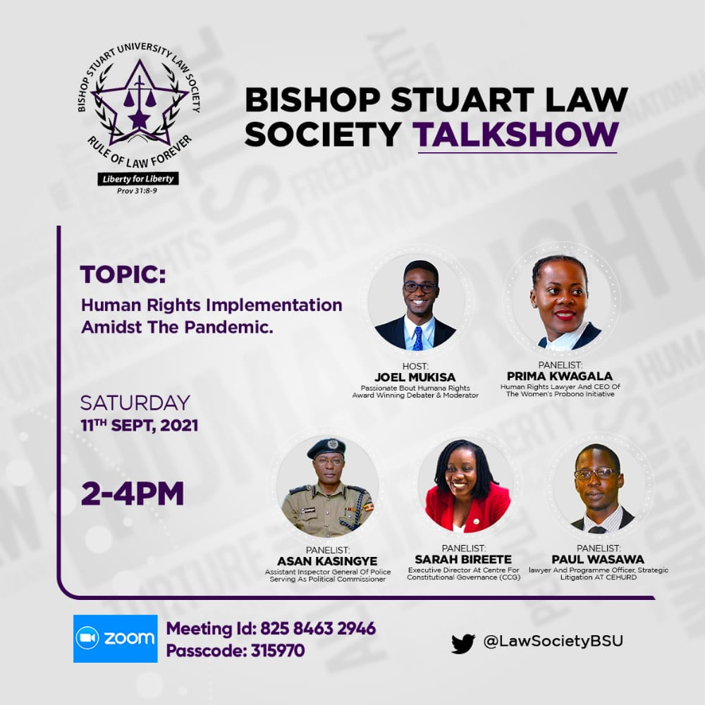 Faculty of Law Talk show on Human rights implementation Amidst the Pandemic
